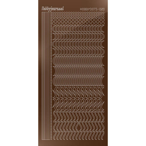 Hobbydots Serie 20 - Stickervel - Mirror Brown - (stdm20G)