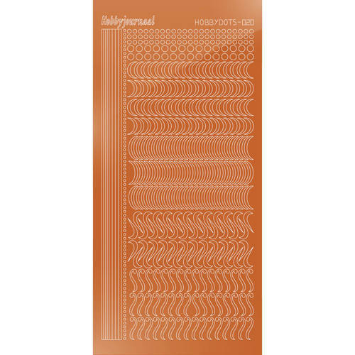 Hobbydots - Stickervel - Mirror Copper - Serie 20 (stdm20B)