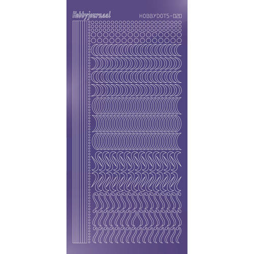Hobbydots - Stickervel - Mirror Purple - Serie 20
