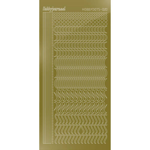 Hobbydots - Stickervel - Mirror Gold - Serie 20 (stdm207)