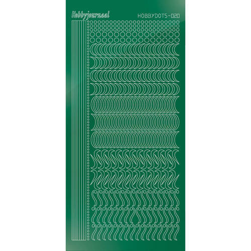 Hobbydots - Stickervel - Mirror Green - Serie 20 (stdm202)