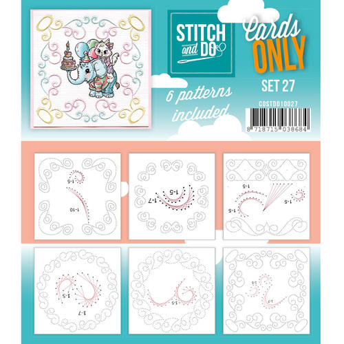 Stitch & Do - Cards only - Set 27 - Costdo10027