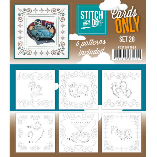 Stitch & Do - Cards only - Set 28 - Costdo10028
