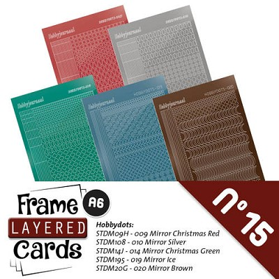 Stickerset Layered Frame Cards 15 - LCST015