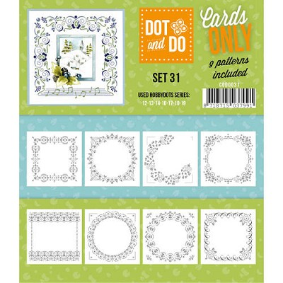 Hobbydots - Dot & Do - Cards Only - Oplegkaarten - Set 31