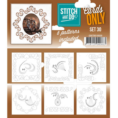 Stitch & Do - Cards only - Set 30 - Costdo10030