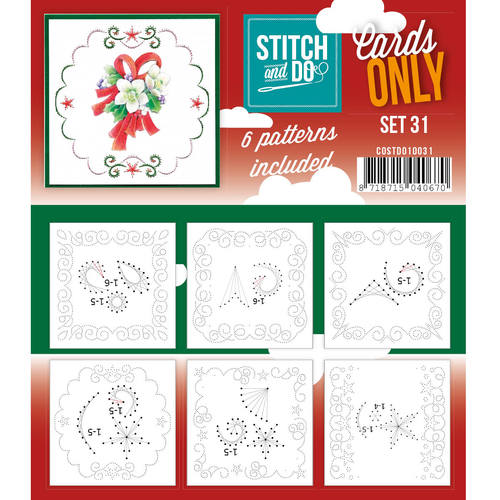 Stitch & Do - Cards only - Set 31 - Costdo10031