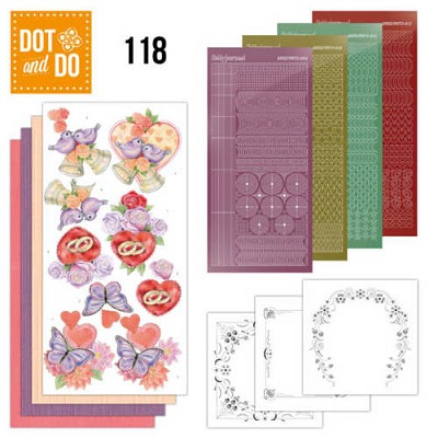 Hobbydots - Dot en Do Set 118 - Jeanine`s Art - Wedding - Dodo118
