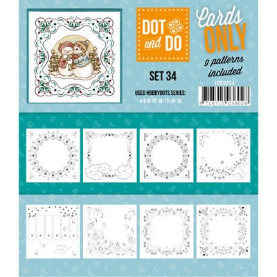 Hobbydots - Dot & Do - Cards Only - Oplegkaarten - Set 34