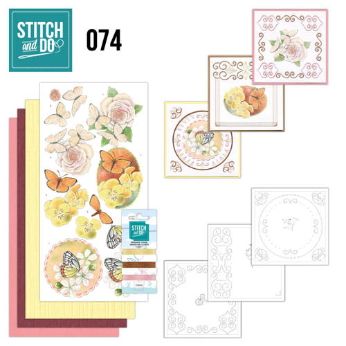 Stitch and Do 74 - Vlinders en Bloemen - Stdo074