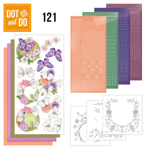 Dot and Do 121 - Jeanine`s Art - Vlinders en Bloemen - Dodo121