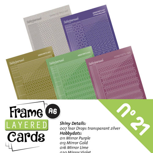 Stickerset Layered Frame Cards 21- LCST021