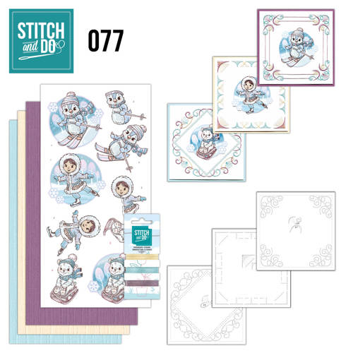 Stitch and Do 77 - Winter Fun - Yvonne Creations - Stdo077
