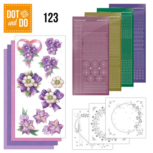 Hobbydots - Dot and Do 123 - Purple Flowers - Dodo123