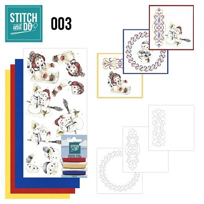 Stitch en Do Set 3 - Precious Marieke - Winter - STDO003