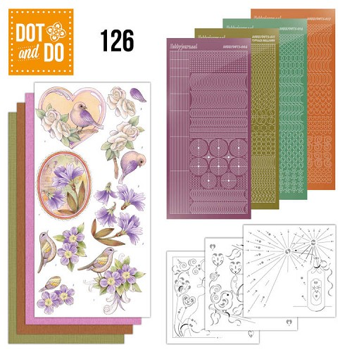 Hobbydots - Dot and Do 126 - Vintage Flowers - Dodo126