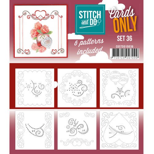 Stitch & Do - Cards only - Set 36 - Costdo10036