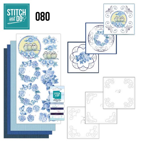 Stitch and Do 80 - Vintage Bloemen - Stdo080