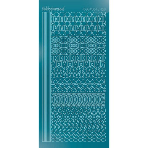 Hobbydots - Stickervel - Mirror Turquoise - Serie 21 (stdm21D)