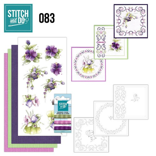 Stitch and Do 83 - Purple Flowers - Stdo083