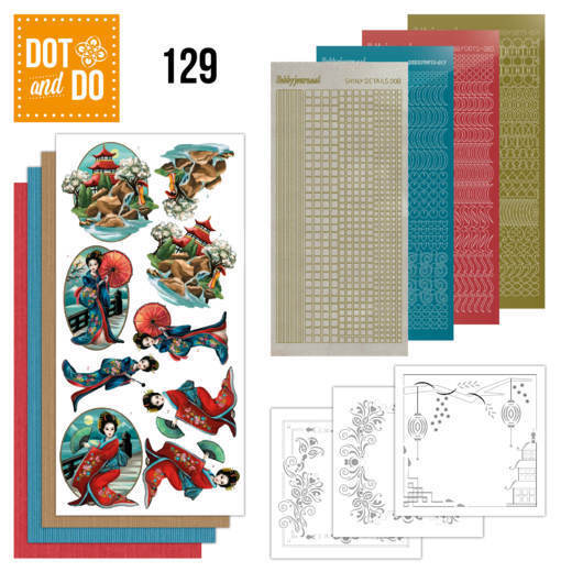 Hobbydots - Dot and Do 129 - Amy Design - Oriental - Dodo129