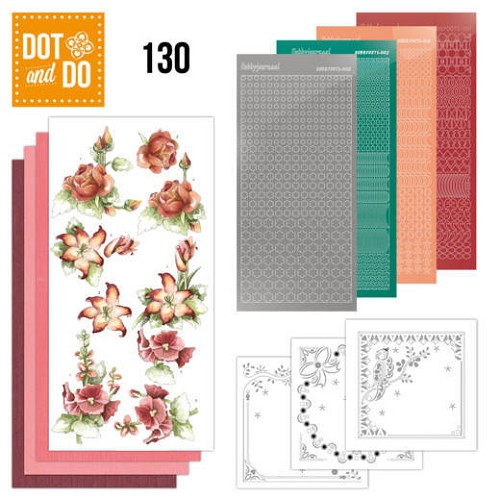 Hobbydots - Dot and Do 130 - Precious Marieke - Timeless Red Flowers - Dodo130