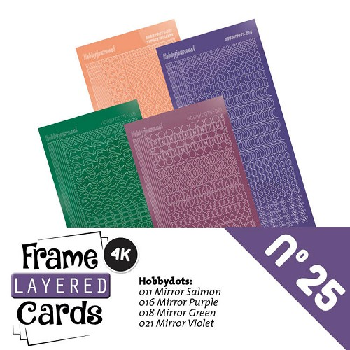 Frame Layered Cards 25 - Stickerset - LCST025