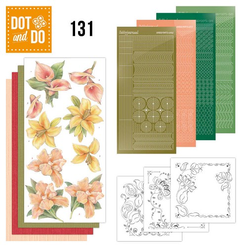 Hobbydots - Dot and Do 131 - Yellow Flowers - Dodo131
