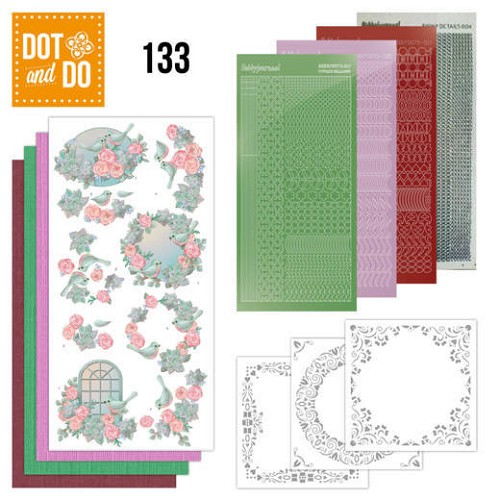 Hobbydots - Dot and Do 133 - Birds and Roses - Dodo133