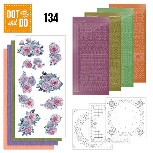 Hobbydots - Dot and Do 134 - Purple Flowers - Dodo134