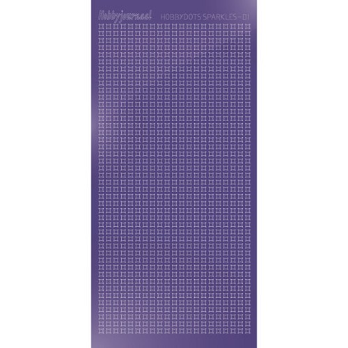 Hobbydots Sparkles Stickervel - Mirror Purple