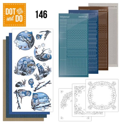 Hobbydots - Dot and Do 146 - Winter Owls - Dodo146