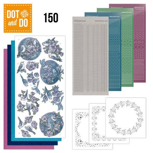 Hobbydots - Dot and Do 150 - Birds in Purple - Dodo150