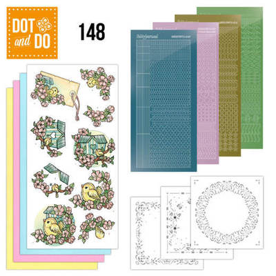 Hobbydots - Dot and Do 148 - Spring Birdhouses - Dodo148