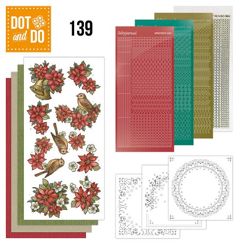 Hobbydots - Dot and Do 139 - Poinsettia Christmas - DODO139