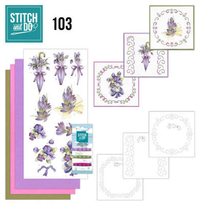 Stitch and Do 103 - Flowers in Purple - STDO103