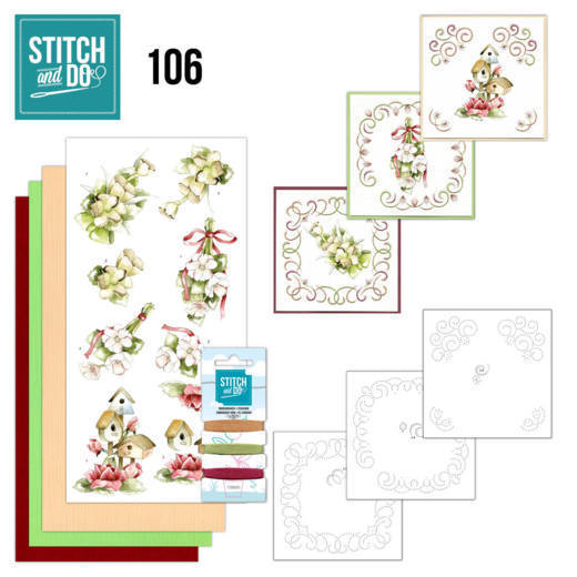 Stitch and Do 106 Pink Spring Flowers - STDO106