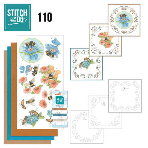 Stitch and Do 110 Bees and Flowers - STDO110