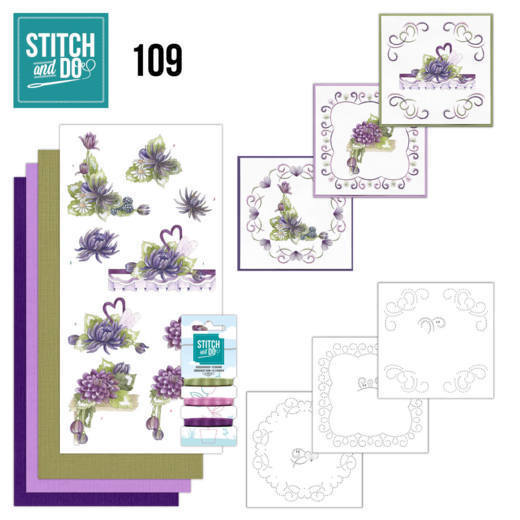 Stitch and Do 109 Summer Dahlia's - STDO109