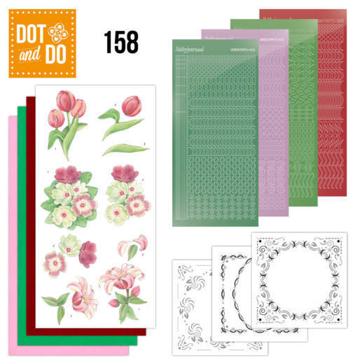 Dot and Do 158 Red Flowers - DoDo158