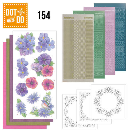 Dot and Do 154 Purple Flowers - DoDo154