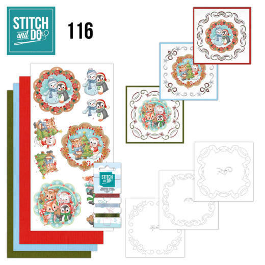 Stitch and Do 116 Sweet Winter Animals - STDO116