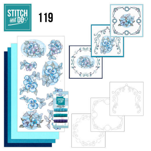 Stitch and Do 119 - Blue Butterflies - STDO119