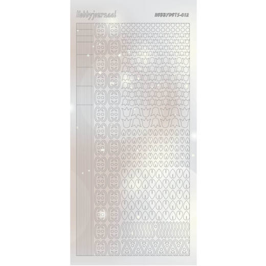 Hobbydots Sticker - Pearl  - 12 Silver - STDP122