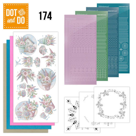 Dot and Do 174 - Yvonne Creations - Flowers in Pastel  - DoDo174
