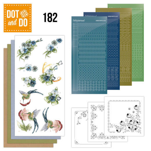 Dot and Do 182 - Precious Marieke - Blue Flowers - Dodo182