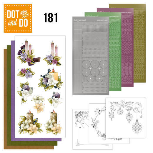 Dot and Do 181 - Precious Marieke - A Touch of Christmas - Candles - Dodo181