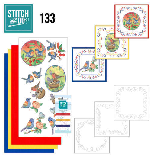 Stitch and Do 133 - Jeanine's Art - Blue Birds - Stdo133