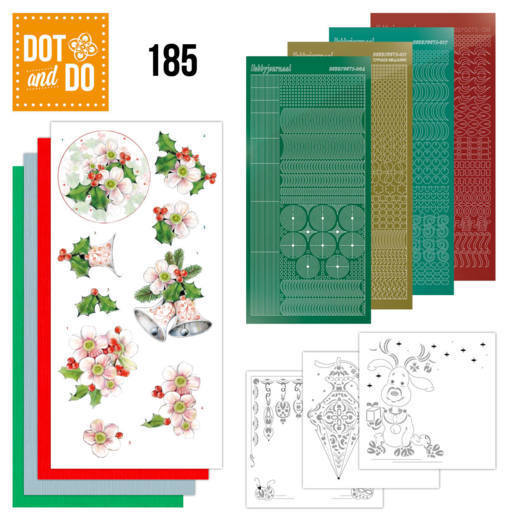 Dot and Do 185 - Jeanine's Art - Christmas Flowers - Pink Christmas Flowers - Dodo185