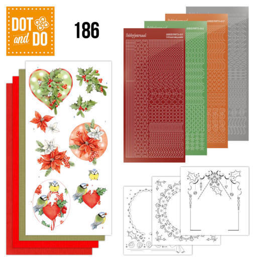Dot and Do 186 - Jeanine's Art - Red Holly Berries - Christmas - Dodo186